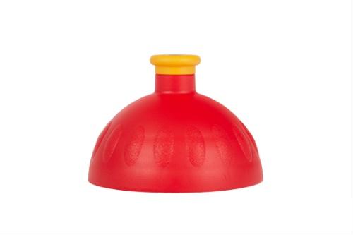 Víčko červené/zátka tmavě žlutá